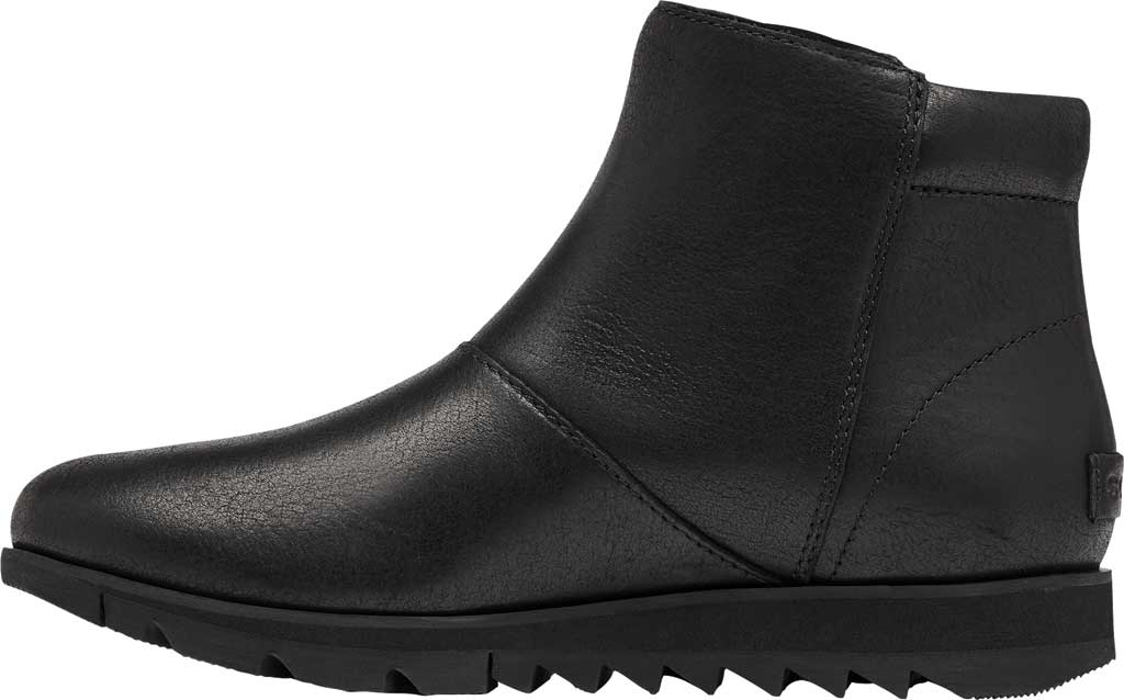 Women's Sorel Harlow Zip Waterproof Boot, Black Waterproof Full Grain Leather, large, image 3