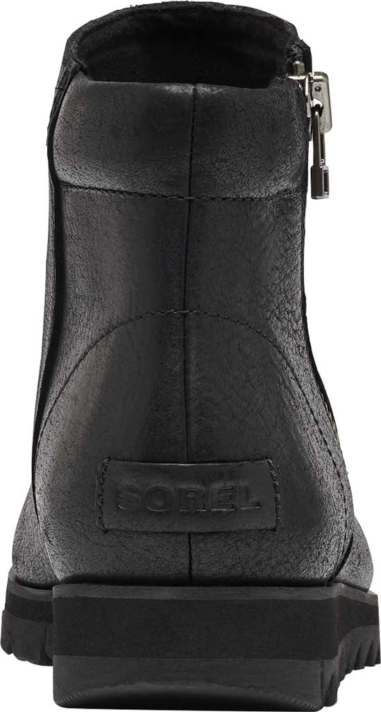 Women's Sorel Harlow Zip Waterproof Boot, Black Waterproof Full Grain Leather, large, image 4