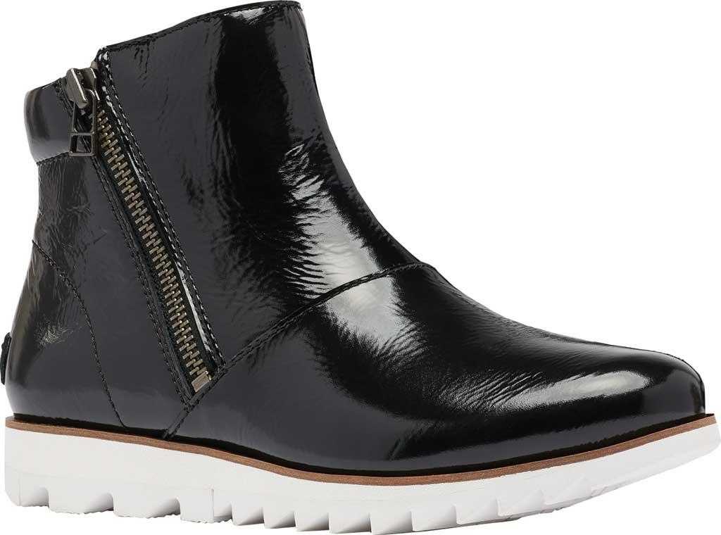Women's Sorel Harlow Zip Waterproof Boot, Black Waterproof Patent Leather, large, image 1