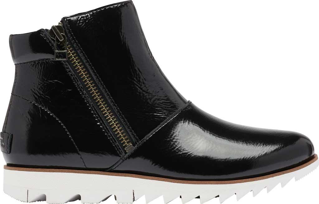 Women's Sorel Harlow Zip Waterproof Boot, Black Waterproof Patent Leather, large, image 2
