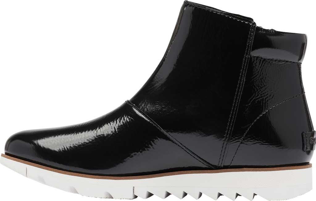 Women's Sorel Harlow Zip Waterproof Boot, Black Waterproof Patent Leather, large, image 3