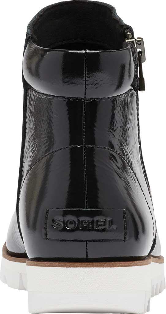 Women's Sorel Harlow Zip Waterproof Boot, Black Waterproof Patent Leather, large, image 4