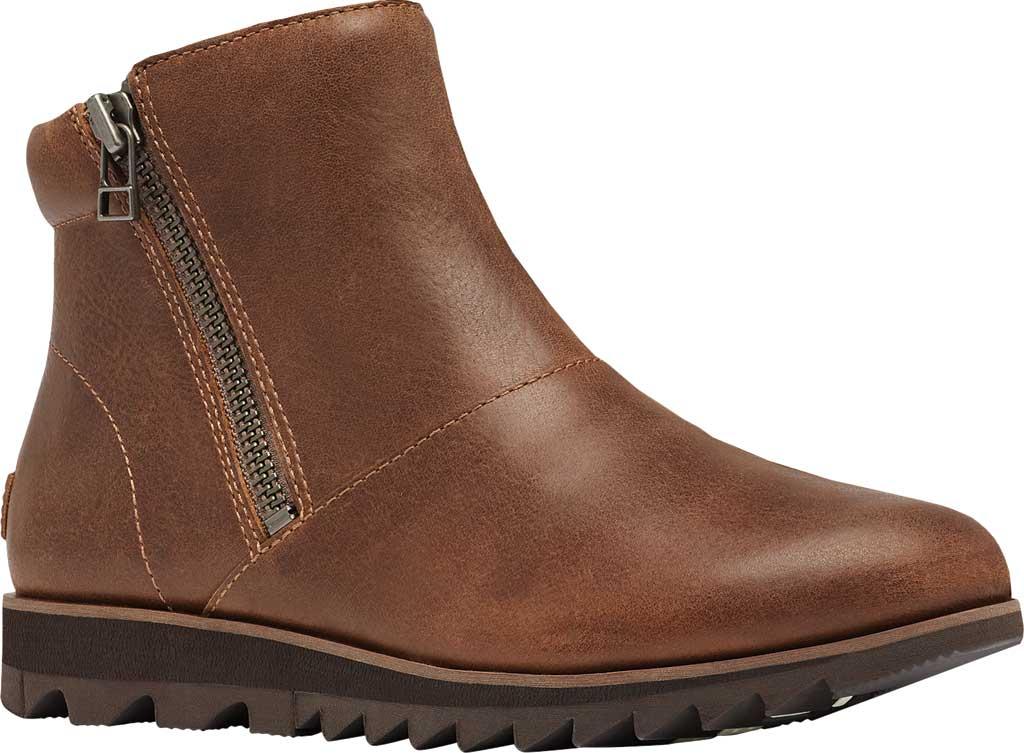 Women's Sorel Harlow Zip Waterproof Boot, Velvet Tan Waterproof Full Grain Leather, large, image 1