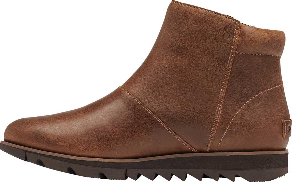 Women's Sorel Harlow Zip Waterproof Boot, Velvet Tan Waterproof Full Grain Leather, large, image 3