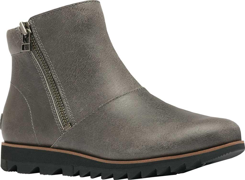 Women's Sorel Harlow Zip Waterproof Boot, Quarry Waterproof Full Grain Leather, large, image 1