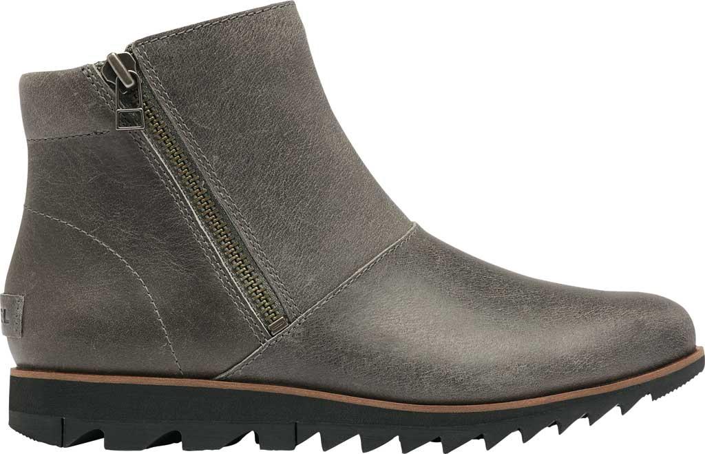 Women's Sorel Harlow Zip Waterproof Boot, Quarry Waterproof Full Grain Leather, large, image 2