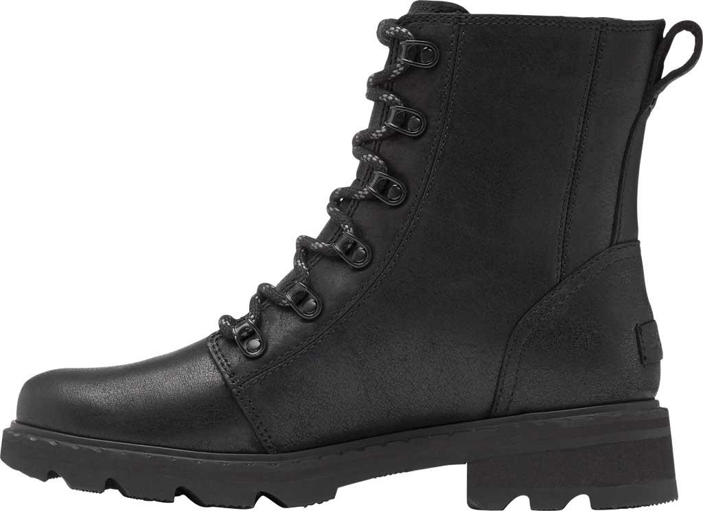Women's Sorel Lennox Lace Waterproof Boot, Black Waterproof Full Grain Leather, large, image 3