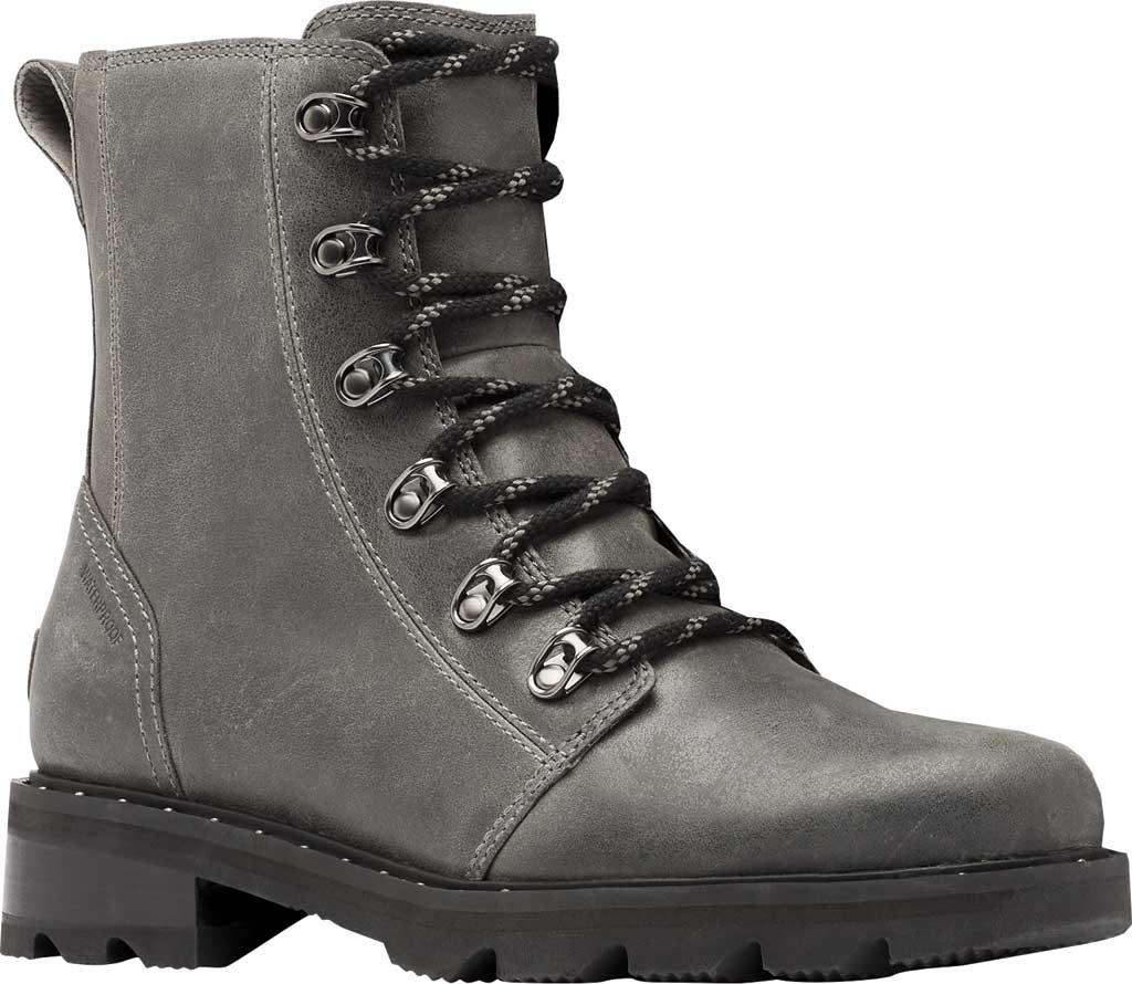 Women's Sorel Lennox Lace Waterproof Boot, Quarry Waterproof Full Grain Leather, large, image 1