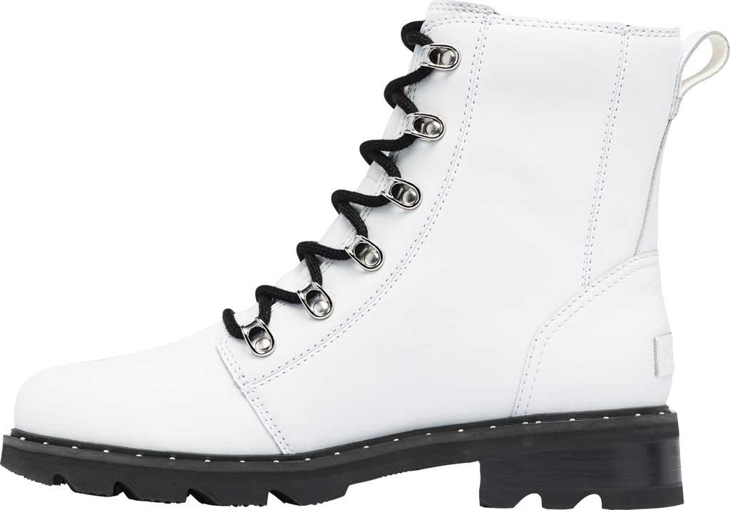 Women's Sorel Lennox Lace Waterproof Boot, White Waterproof Full Grain Leather, large, image 3