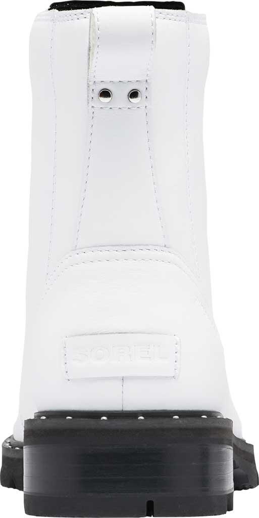 Women's Sorel Lennox Lace Waterproof Boot, White Waterproof Full Grain Leather, large, image 4