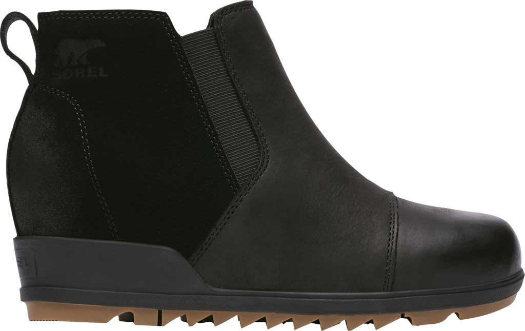 Women's Sorel Evie Pull On Waterproof Boot, On-Black Waterproof Full Grain Leather/Suede, large, image 2