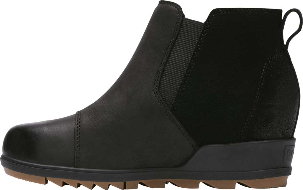 Women's Sorel Evie Pull On Waterproof Boot, On-Black Waterproof Full Grain Leather/Suede, large, image 3