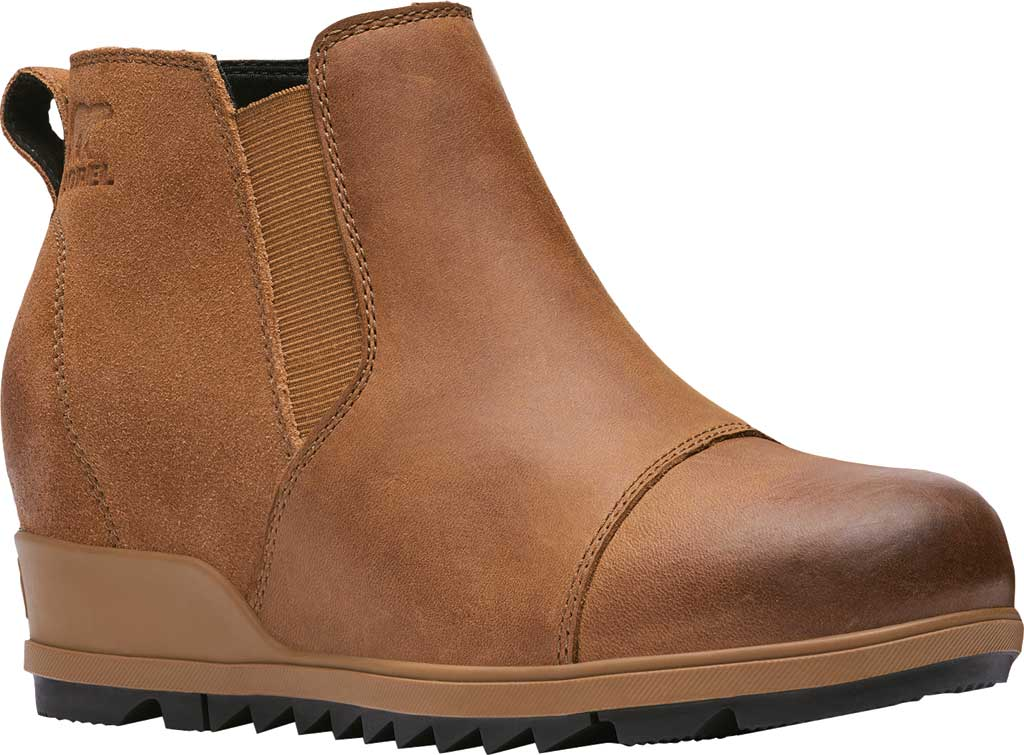 Women's Sorel Evie Pull On Waterproof Boot, On-Velvet Tan Waterproof Full Grain Leather/Suede, large, image 1