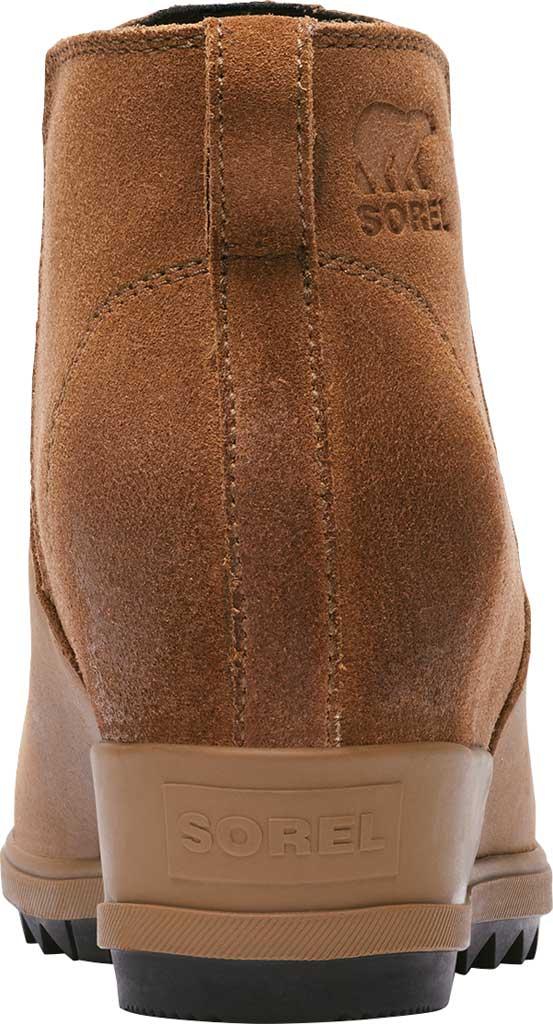 Women's Sorel Evie Pull On Waterproof Boot, On-Velvet Tan Waterproof Full Grain Leather/Suede, large, image 4