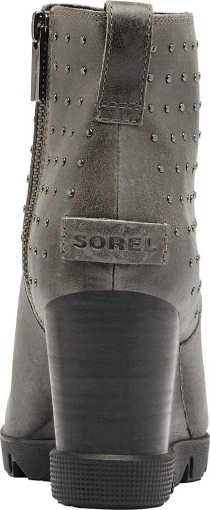 Women's Sorel Joan Uptown Stud Waterproof Wedge Bootie, Quarry Waterproof Full Grain Leather, large, image 4