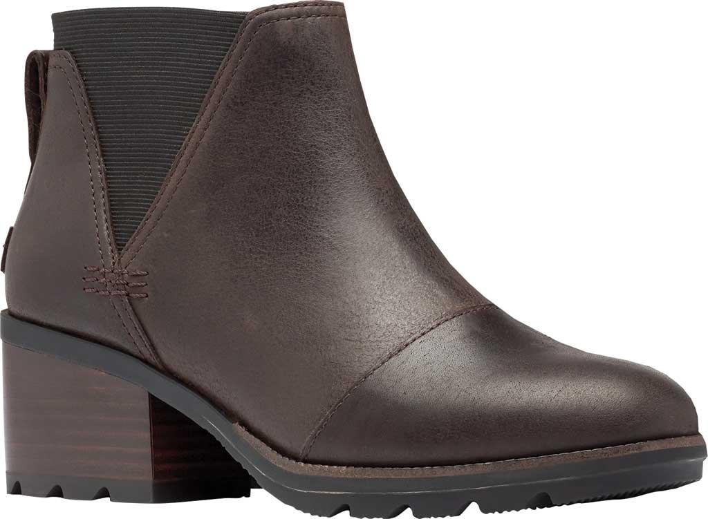 Women's Sorel Cate Chelsea Waterproof Boot, Blackened Brown Waterproof Full Grain Leather/Gore, large, image 1