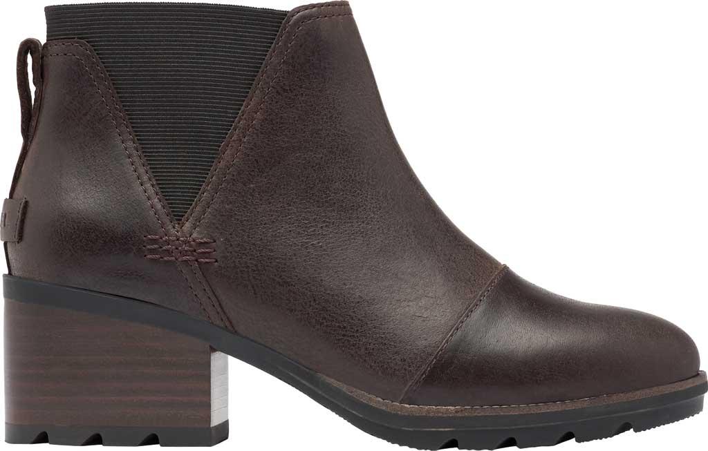 Women's Sorel Cate Chelsea Waterproof Boot, Blackened Brown Waterproof Full Grain Leather/Gore, large, image 2