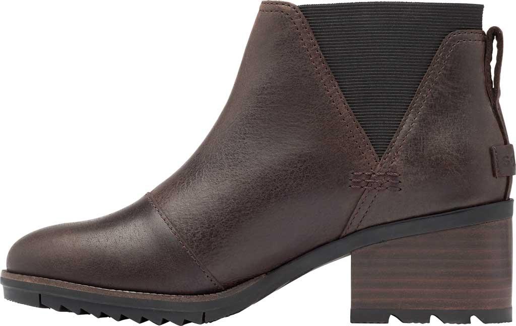 Women's Sorel Cate Chelsea Waterproof Boot, Blackened Brown Waterproof Full Grain Leather/Gore, large, image 3
