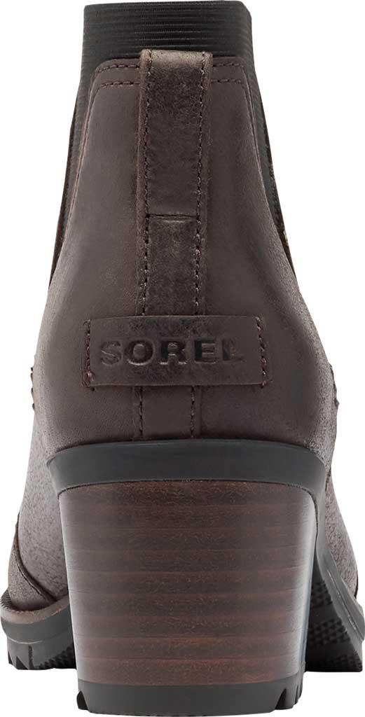 Women's Sorel Cate Chelsea Waterproof Boot, Blackened Brown Waterproof Full Grain Leather/Gore, large, image 4