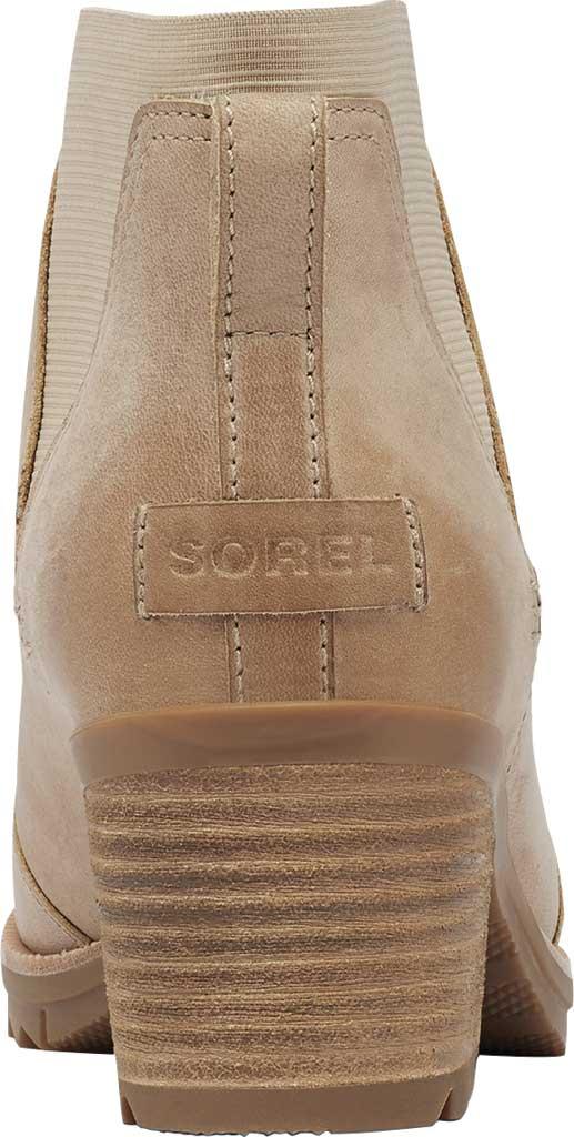 Women's Sorel Cate Chelsea Waterproof Boot, Sandy Tan Waterproof Full Grain Leather/Gore, large, image 4