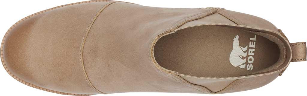 Women's Sorel Cate Chelsea Waterproof Boot, Sandy Tan Waterproof Full Grain Leather/Gore, large, image 5