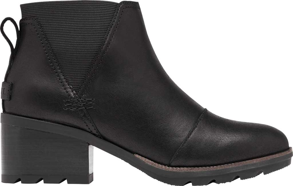 Women's Sorel Cate Chelsea Waterproof Boot, Black Waterproof Full Grain Leather/Gore, large, image 2