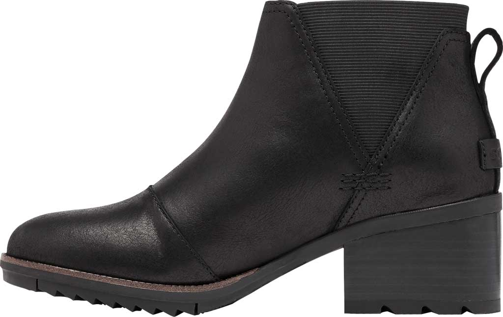 Women's Sorel Cate Chelsea Waterproof Boot, Black Waterproof Full Grain Leather/Gore, large, image 3