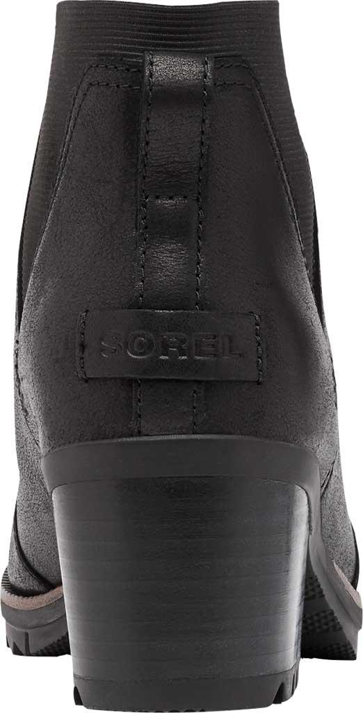 Women's Sorel Cate Chelsea Waterproof Boot, Black Waterproof Full Grain Leather/Gore, large, image 4