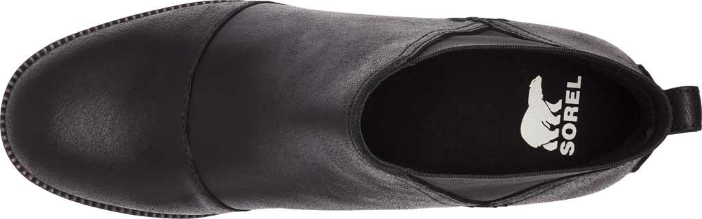 Women's Sorel Cate Chelsea Waterproof Boot, Black Waterproof Full Grain Leather/Gore, large, image 5