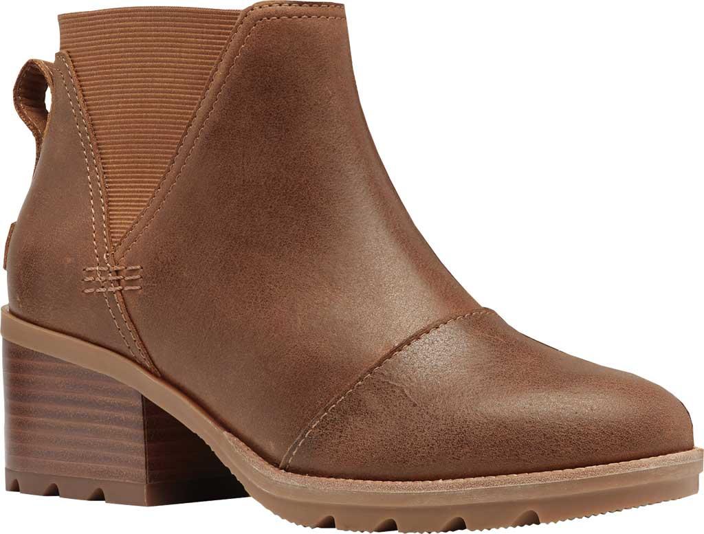 Women's Sorel Cate Chelsea Waterproof Boot, Velvet Tan Waterproof Full Grain Leather/Gore, large, image 1