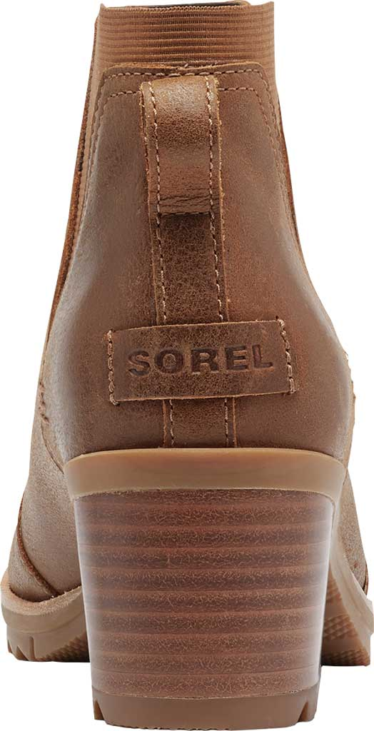 Women's Sorel Cate Chelsea Waterproof Boot, Velvet Tan Waterproof Full Grain Leather/Gore, large, image 4