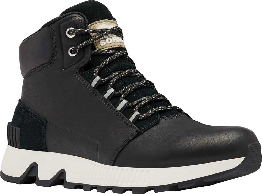 Men's Sorel Mac Hill Mid LTR Waterproof Sneaker, Black Waterproof Full Grain Leather/Suede, large, image 1