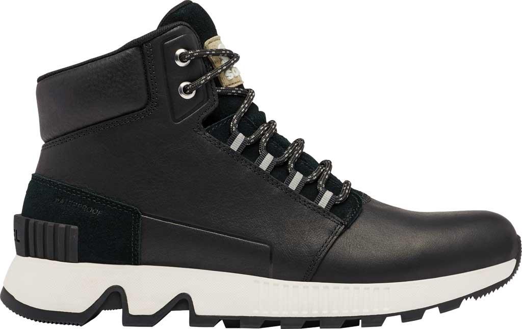 Men's Sorel Mac Hill Mid LTR Waterproof Sneaker, Black Waterproof Full Grain Leather/Suede, large, image 2