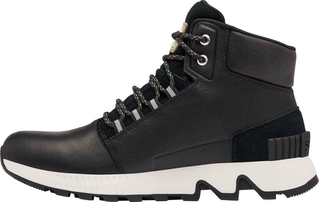 Men's Sorel Mac Hill Mid LTR Waterproof Sneaker, Black Waterproof Full Grain Leather/Suede, large, image 3