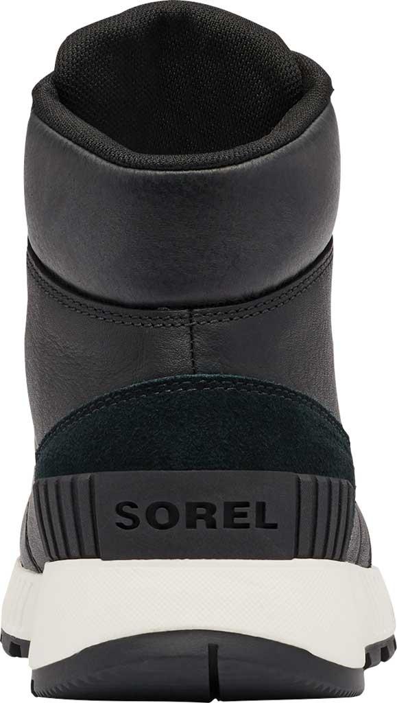Men's Sorel Mac Hill Mid LTR Waterproof Sneaker, Black Waterproof Full Grain Leather/Suede, large, image 4