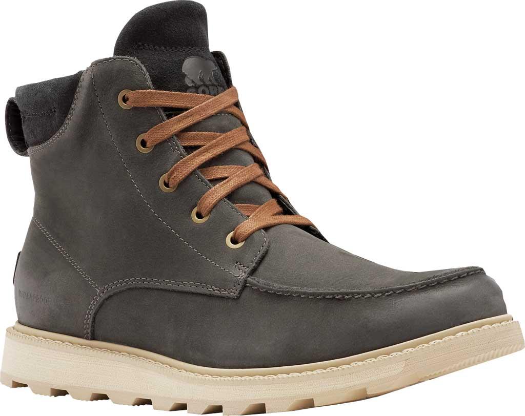 Men's Sorel Madson II Moc Toe Waterproof Boot, Coal Waterproof Leather/Nubuck, large, image 1