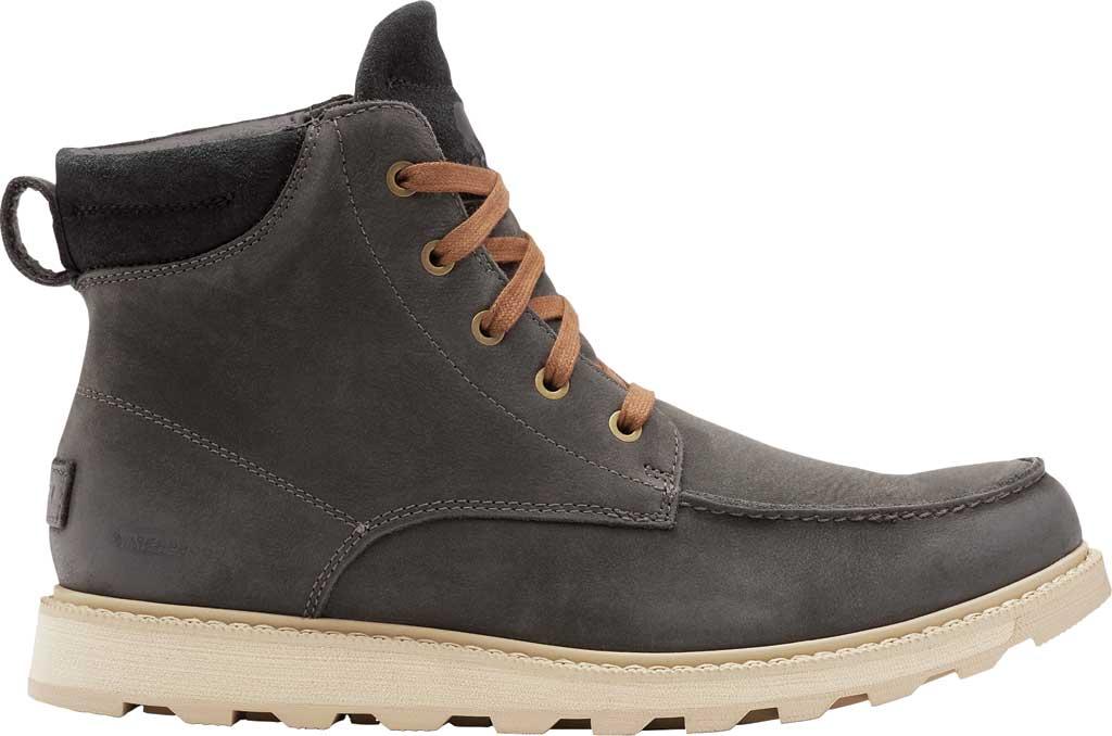 Men's Sorel Madson II Moc Toe Waterproof Boot, Coal Waterproof Leather/Nubuck, large, image 2