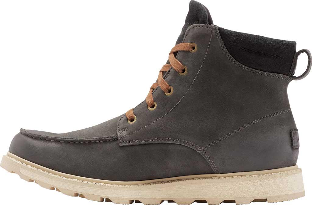 Men's Sorel Madson II Moc Toe Waterproof Boot, Coal Waterproof Leather/Nubuck, large, image 3