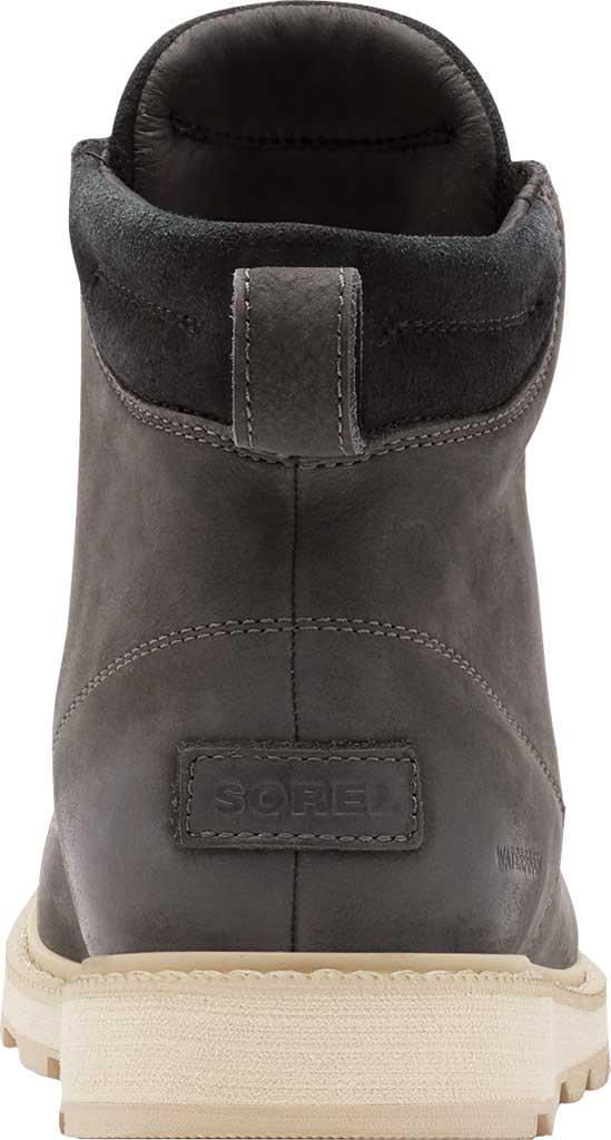 Men's Sorel Madson II Moc Toe Waterproof Boot, Coal Waterproof Leather/Nubuck, large, image 4
