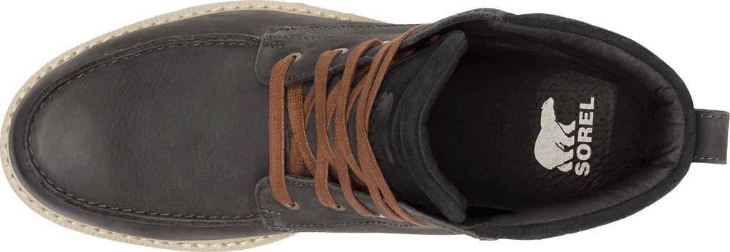 Men's Sorel Madson II Moc Toe Waterproof Boot, Coal Waterproof Leather/Nubuck, large, image 5