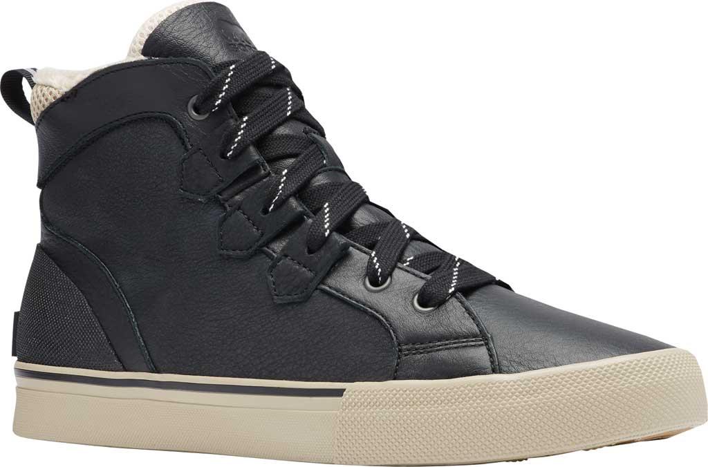 Men's Sorel Caribou Storm Mid Waterproof Sneaker, Black Waterproof Full Grain Leather/Nubuck, large, image 1