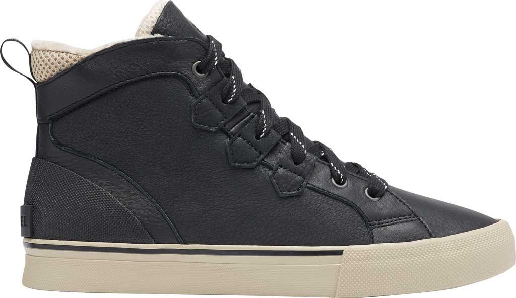 Men's Sorel Caribou Storm Mid Waterproof Sneaker, Black Waterproof Full Grain Leather/Nubuck, large, image 2