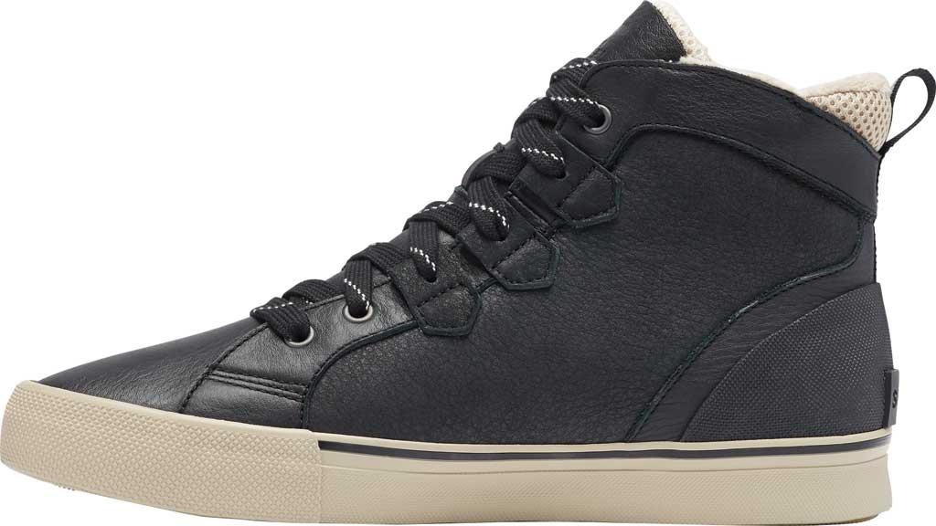 Men's Sorel Caribou Storm Mid Waterproof Sneaker, Black Waterproof Full Grain Leather/Nubuck, large, image 3