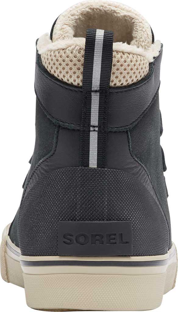 Men's Sorel Caribou Storm Mid Waterproof Sneaker, Black Waterproof Full Grain Leather/Nubuck, large, image 4