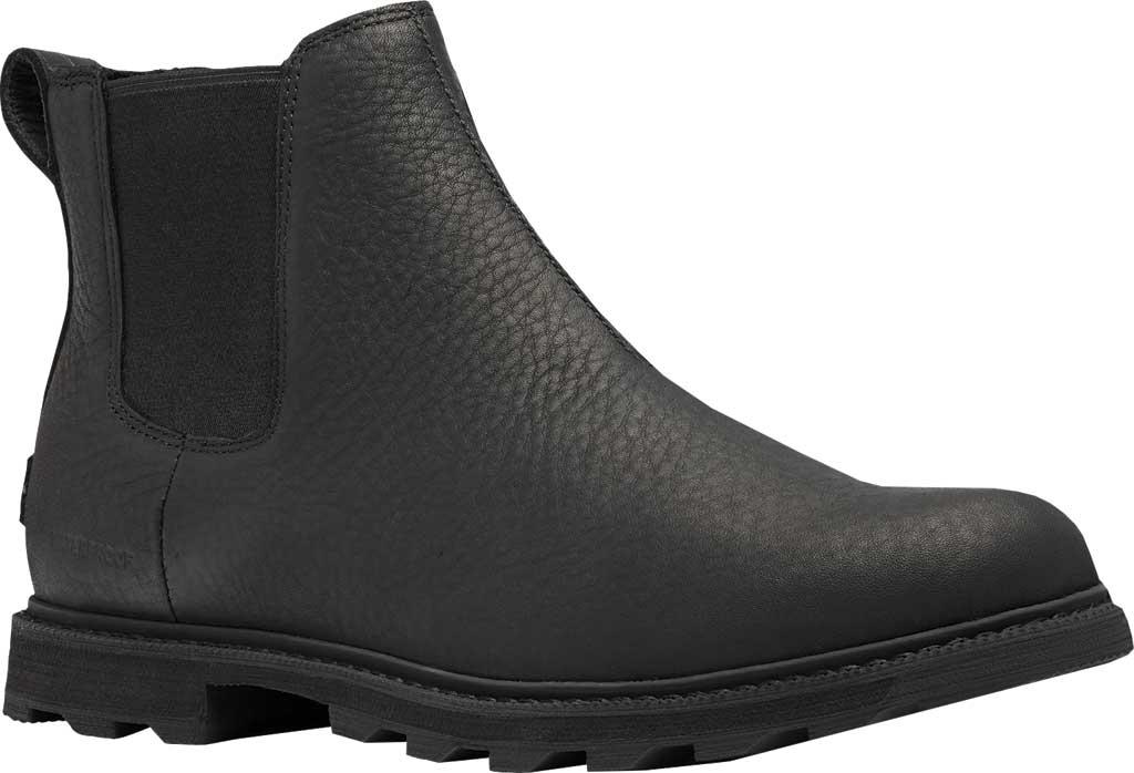 Men's Sorel Madson II Chelsea Waterproof Boot, Black Waterproof Full Grain Leather, large, image 1