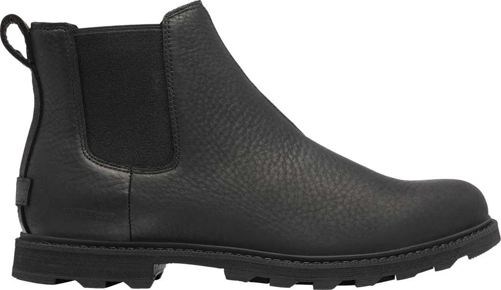Men's Sorel Madson II Chelsea Waterproof Boot, Black Waterproof Full Grain Leather, large, image 2