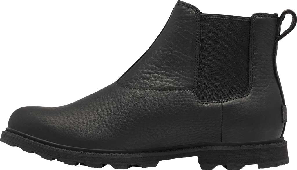 Men's Sorel Madson II Chelsea Waterproof Boot, Black Waterproof Full Grain Leather, large, image 3