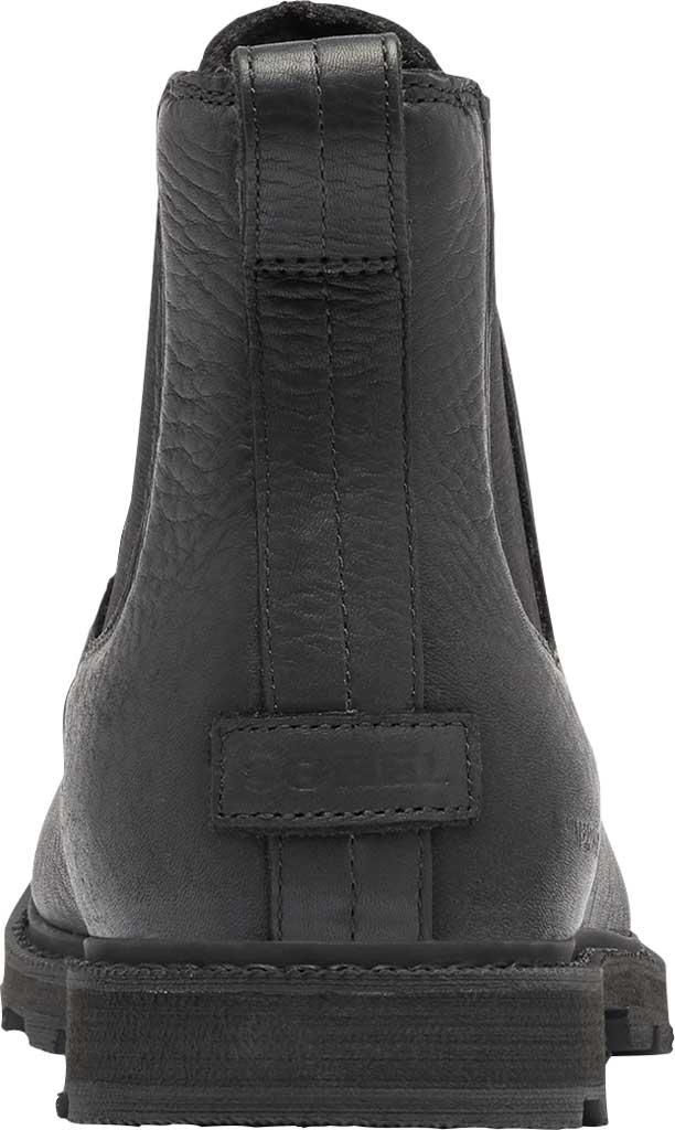 Men's Sorel Madson II Chelsea Waterproof Boot, Black Waterproof Full Grain Leather, large, image 4