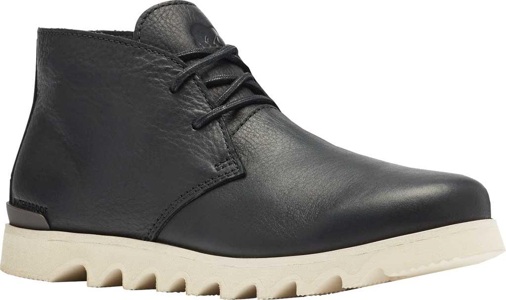 Men's Sorel Kezar Chukka Waterproof Boot, Black Waterproof Full Grain Leather, large, image 1