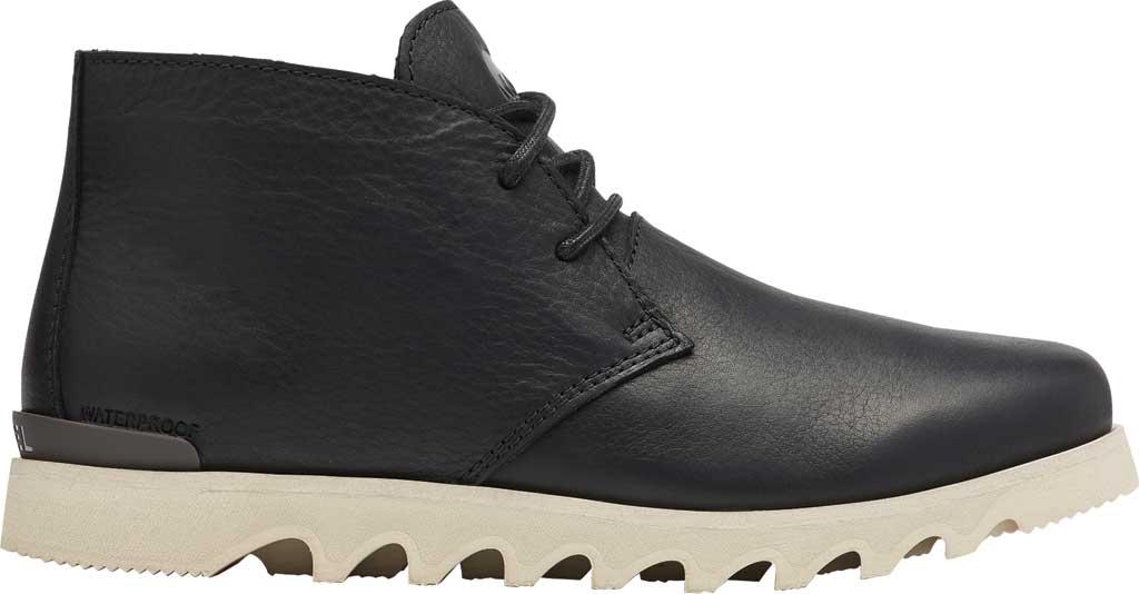 Men's Sorel Kezar Chukka Waterproof Boot, Black Waterproof Full Grain Leather, large, image 2